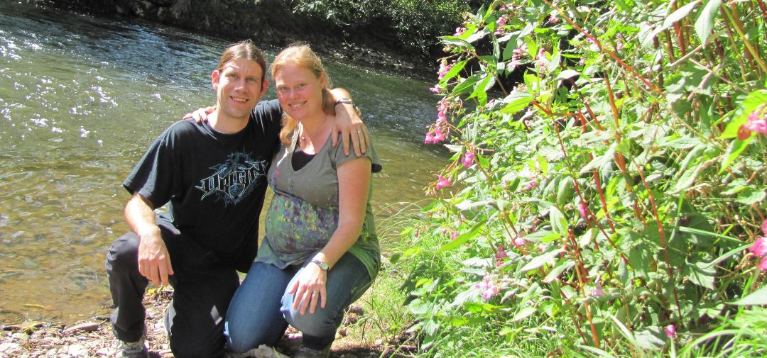 Zwangerschapsfoto tijdens een weekend in de Ardennen